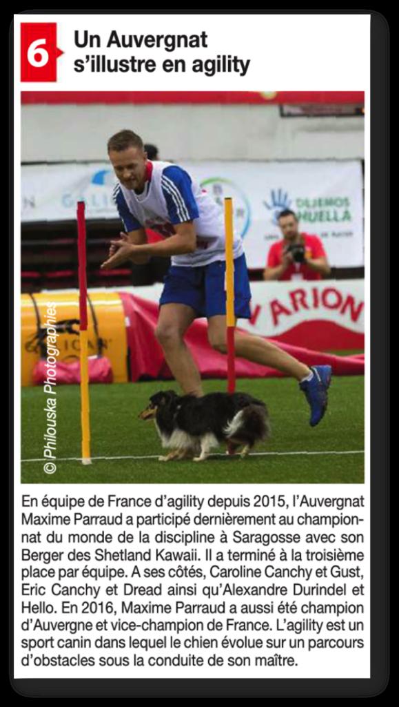 Info Magazine - Agility - Maxime PARRAUD
